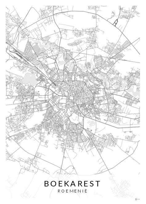 Poster Boekarest - Place To Map