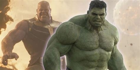 Hulk Is Terrified By Thanos In 'Avengers: Infinity War'