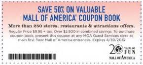 Mall of America Coupons | Deals and Discounts | Pinterest