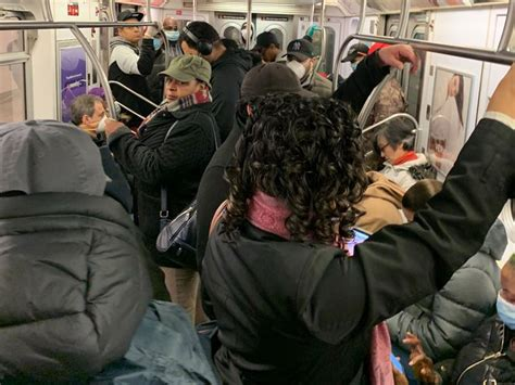Subway & Bus Riders Face Dangerously Crowded Conditions As