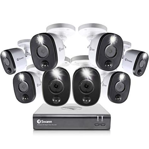 Swann 8 Channel 4 Camera Security System, Wired