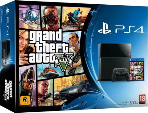Sony PlayStation 4 (PS4) 500 GB with GTA 5 Bundle Price in