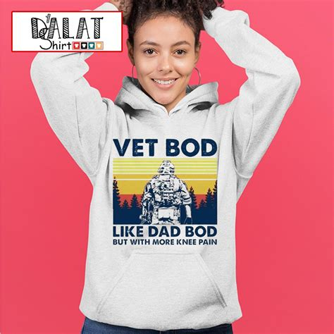 Vet bob like dad bod but with more knee pain vintage shirt