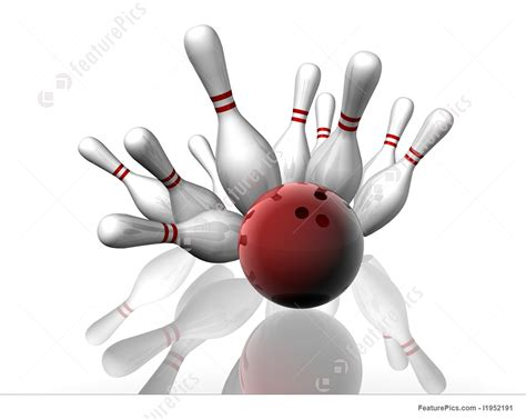 Sports And Recreation: Bowling Strike - Stock Illustration