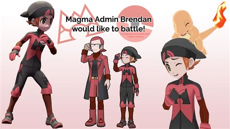 Magma Admin Brendan would like to battle! [Texture edit by