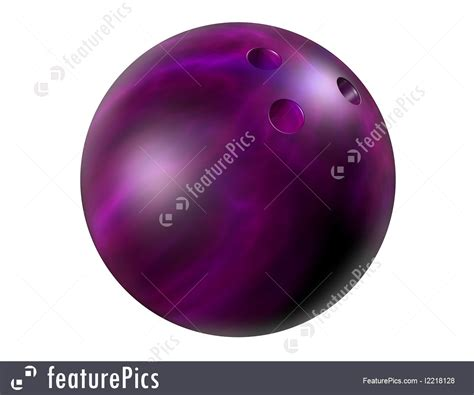 Sports And Recreation: Purple Bowling Ball - Stock