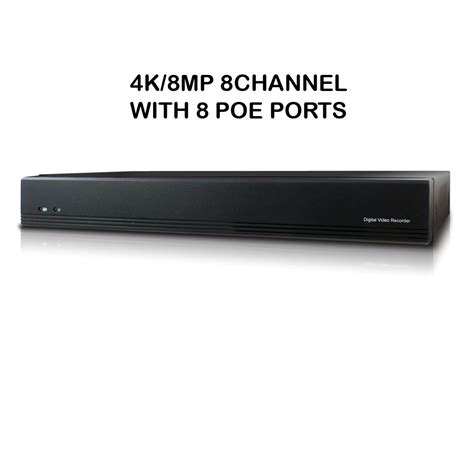 Microseven 4K PoE NVR 8MP 8CH Compatible with Alexa, H