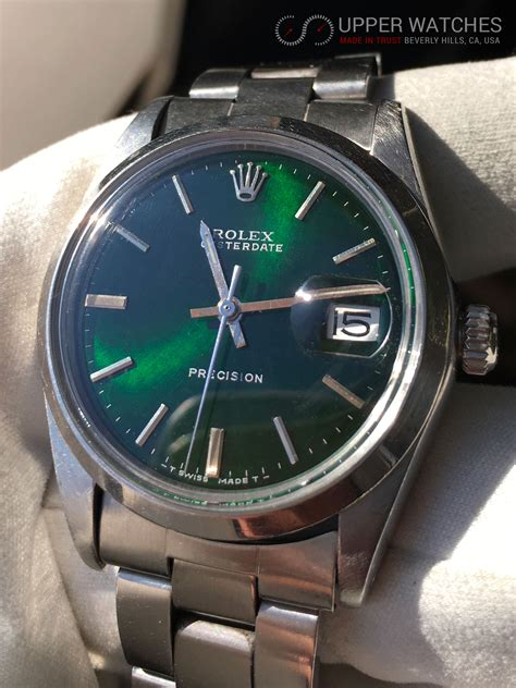 Rolex 6694 Oyster Date Precision with Green HULK Metalic