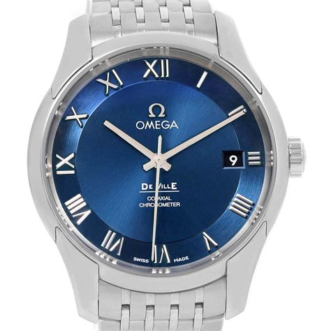 Omega DeVille Co-Axial 41mm Blue Dial Watch 431