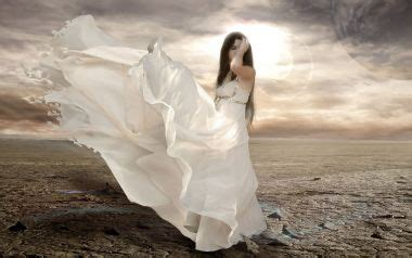 Free Wallpapers: Fantasy Girl in Flowing White Dress   Fantasy