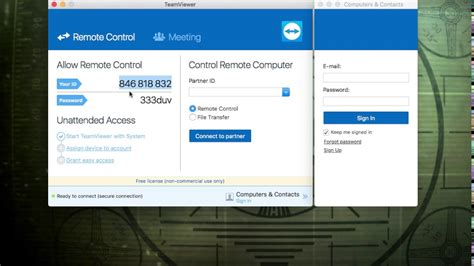 TeamViewer Unattended Access Mac - YouTube