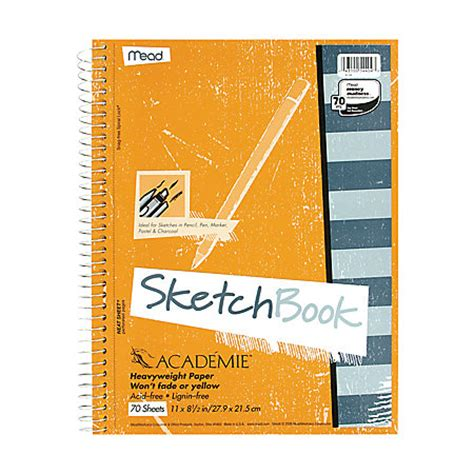 Mead Academie Sketch Diary 70 Pages 8 12 x 11 by Office