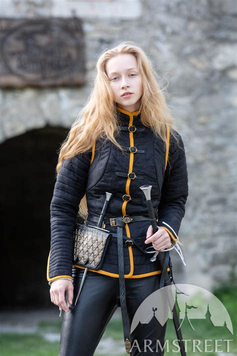 """Two-piece Linen Female Gambeson """"The Dark Star"""" for sale"""