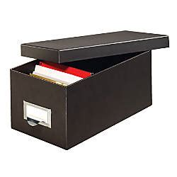 Globe Weis 90percent Recycled Index Card Storage Case 5 H